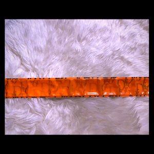 Authentic Dior Vintage Snap Bracelet Orange